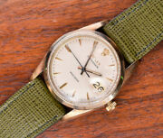 Vintage Rolex Oysterdate Precision 6694 Manual Wind Gold Plated Watch 34mm 1960