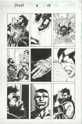 Heroes 4 Hire 9 Pg 13 Original Art By Pasqual Ferry Marvel Comics Cage Punisher
