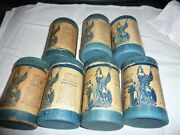 Seven Columbia Cylinder Phonograph Records - Unmatched Lids