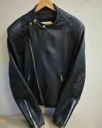 Menand039s Vintage 40 Years Old Leather Motorcycle Jacket