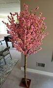 Artifical Pink Peach Tree 6 1/2 Feet Tall Great Quality Brand New
