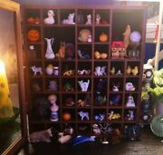 Vintage To Now Junk Drawer Oddities Glass Curio Cabinet Full Of Stuff