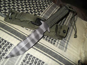 Custom Mick Strider Knife Combat Bowie Survival Knife Special Ops Equip Sheath