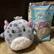 Squishmallows Axolotl Mystery Squad Edition Scented Grey Spotted Axolotl