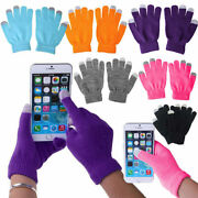 Touch Screen Winter Knitted Magic Gloves Ladies Mens Kids For Smart Phone Tablet