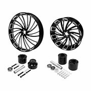 23 Front And 18and039and039 Rear Wheel Rim W/ Hub Fit For Harley Street Road Glide 08-21 Us