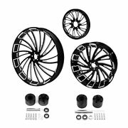 26 Front 18and039and039 Rear Wheels Rim Disc Hub Sprocket Fit For Harley Road Glide 08-21