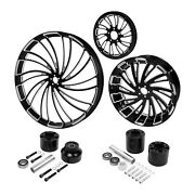 30 Front 18and039and039 Rear Wheel Rim Anddisc Hub Pulley Fit For Harley Street Glide 08-21