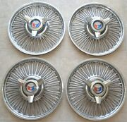 1963-1964 Ford Galaxie Hubcap Set, 14 Wheel Rim Cover Original Wire Spinners