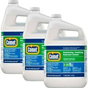 Comet Disinfecting-sanitizing Bathroom Cleaner 1 Gallon Pack Of 3