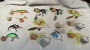 Vintage Fishing Lures Lot Of 12 Spinners Lures Various Weights Styles Hooks