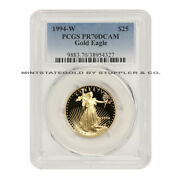 1994-w 25 Gold Eagle Pcgs Pr70dcam Proof West Point Mint Deep Cameo Graded Coin