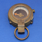 World War One Officersand039 Marching Compass Missing Leather Case 1918 Ww1 Wwi