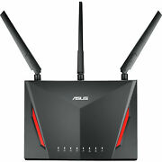Asus Ac2900 Dual Band Gigabit Gaming Router Rt-ac86u W/ Aiprotection Security