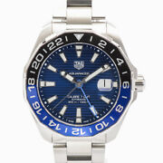 Tag Heuer Aqua Racer Caliber 7 Gmt Way201t.ba0927 Mens Watches Stainless/bra...