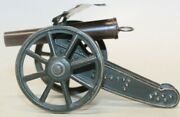 Vintage Pre-war German Goso Tin Lithographed Spring Loaded Wwi Field Cannon