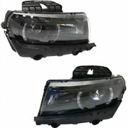 For Chevy Camaro Headlight 2014 2015 Pair Lh And Rh Side Lt/ss Model Gm2502392