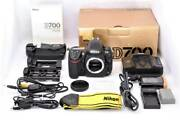 One Owner Nikon Nikon D700 Body Battery Grip Mb-d10 Original Box And Many Other