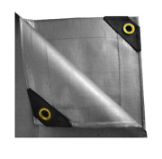 14 X 20 Heavy Duty Canopy Tarp Multipurpose Cover All Weather Protection -silver