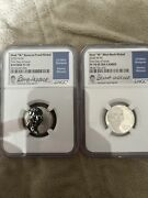 2020 First W Mint Mark Nickle Set Pf70 Rp And Uc Two Coin Set Rare Low Mintage