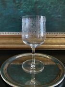1 Theodore Roosevelt Presidential White House Etched Glass Water Goblet •1902•