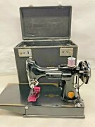 1939 Singer Featherweight Sewing Machine Model 221 - Orig Case /tested