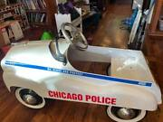 Vintage 70s Chicago Police Car Gearbox Pedal Car Company