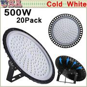 20x500w Ufo Led High Bay Light Gym Factory Warehouse Industrial Shed Lighting Us