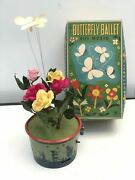 Trademark Modern Toys Vintage Tin Toy Butterfly Ballet Rare Display Made Japan