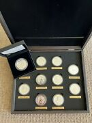 Queenand039s Beast 2 Oz Silver Bu Coin Set Great Britain Plus 2oz Completer Proof