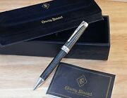 New Conway Stewart Enamel Knightsbridge S/s Ballpoint Pen - With Box And Papers