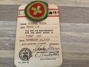 Vintage Boy Scout Of America 1959patches Merit Badges First Aid