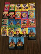 Garbage Pail Kids Series 1, Wacky Packages, Non Sports Cards Pack Lot