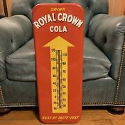 Nice Royal Crown Cola Rc Advertising Thermometer Sign