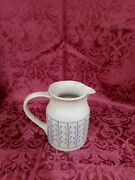 Hartstone Usa Pottery Stoneware Picture With Blue Pattern