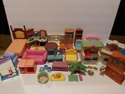 Mixed Lot Fisher Price Mattel Loving Family Dollhouse Furniture Accessories