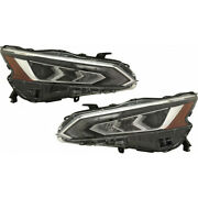 For Nissan Altima Headlight 2019 Pair Rh And Lh Side Chrome Led For Ni2502266