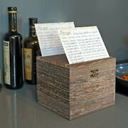 Farmhouse Recipe Box With Cards And Dividers With Tabs 4x6 Inches