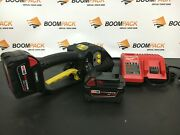 Fromm P328 Strapping Machine Hand Packing Tool With Charger And 2 Batteries