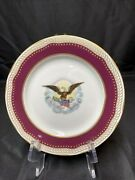Woodmere China White House Collection Abraham Lincoln Dessert Plate W/coa