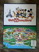 2021 Disney World Mickey And Friends 50th Anniversary Park Map Placemat Set 2