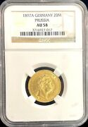 1897 A German States Prussia 20 Mark Gold Coin Ngc Au 58