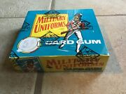 1969 Chix Confectionery Military Uniforms Unopened 48-pack Wax Box Bbce