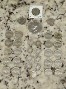 Lot Of 8 Mercury And 1 Roosevelt Silver Dimes, 1 40 Clad Ike And 23 Buffalo Nickels