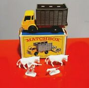 Matchbox Series N 37 Cattle Truck Made In England Superfast