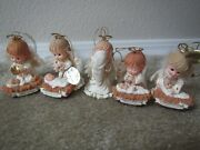 Set Of 5 Precious Moments Christmas Ornaments A Child Is Born Bradford Holiday
