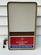 Winchester Lighted Western Sporting Arms And Ammunition Advertising Sign Nos