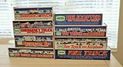Lot Of 8 Hess Trucks Vehicles Plane Helicopter - In Original Boxes -1996-2005