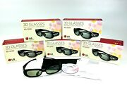 Lot Of 5 Lg 3d Glasses For Lg 3d Tv/projector. Ag-s250. 2 - New, 3 - Open Boxed