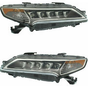 Fits 2015-2017 Acura Tlx Headlight Driver And Passenger Side Dot W/bulbs